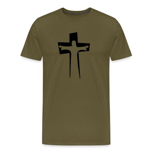 Abstrakt Jesus på korset - Premium-T-shirt herr