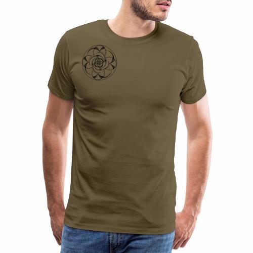 Mandala Nr 2 schwarz - Männer Premium T-Shirt