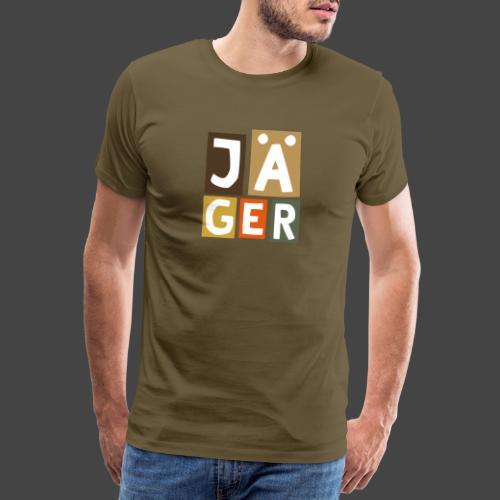 Geblockter Jäger - original Jägershirt - Männer Premium T-Shirt