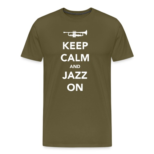 Keep Calm and Jazz On - Trumpet - Men's Premium T-Shirt