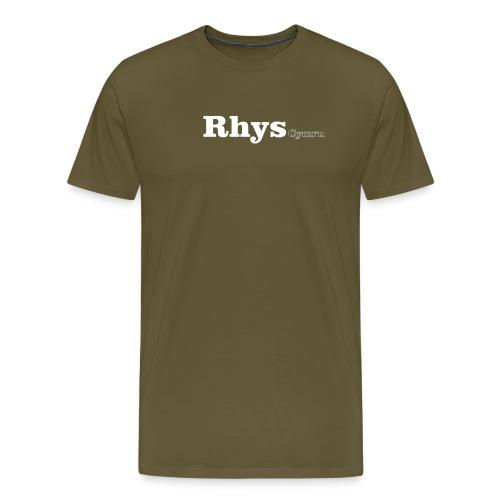 rhys cymru white - Men's Premium T-Shirt