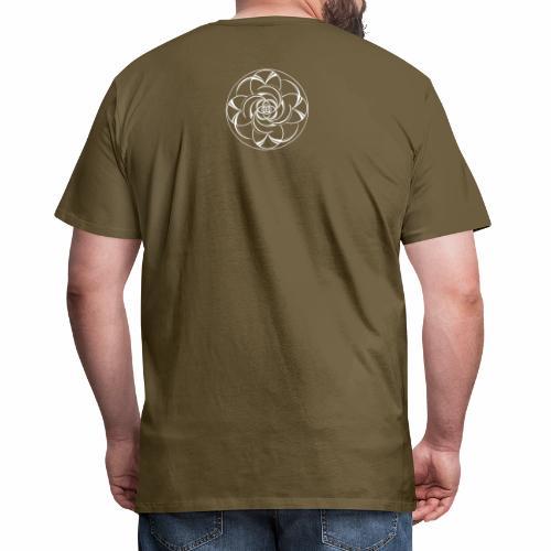 Mandala Nr 2 weiss - Männer Premium T-Shirt