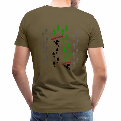Feel free - start to live - Männer Premium T-Shirt