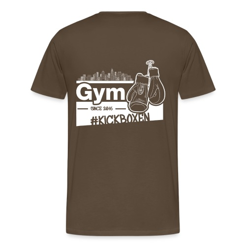 Gym Druckfarbe weiss - Männer Premium T-Shirt