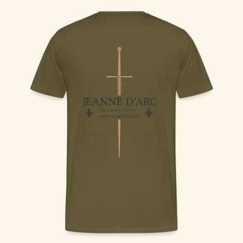 Jeanne d arc dark - Männer Premium T-Shirt