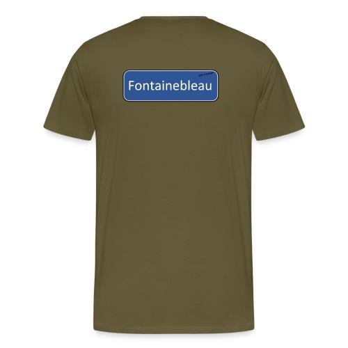Fontainebleau Road Sign - Men's Premium T-Shirt