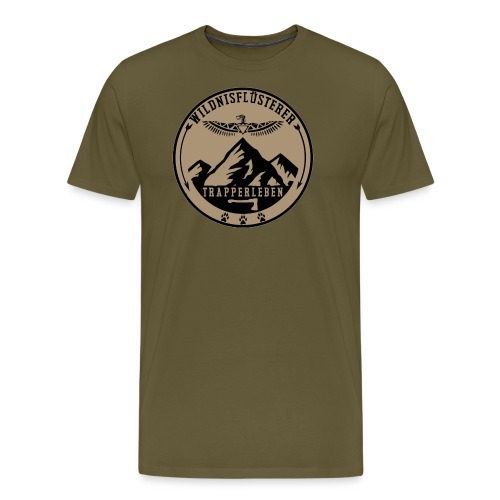 Wildnisfluesterer Trapperleben Motiv - Männer Premium T-Shirt