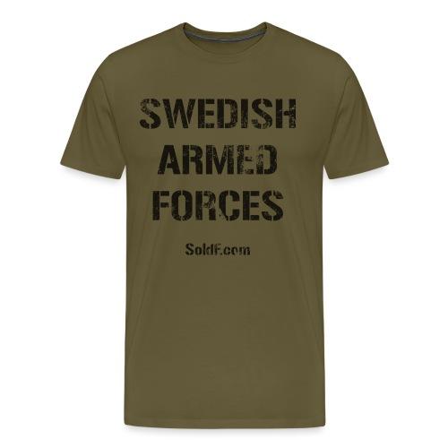 Swedish Armed Forces + SWE FLAG - Premium-T-shirt herr