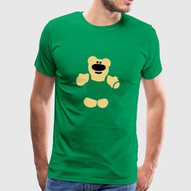 oso de jardinero con sobretodo y regadera - Camiseta premium hombre