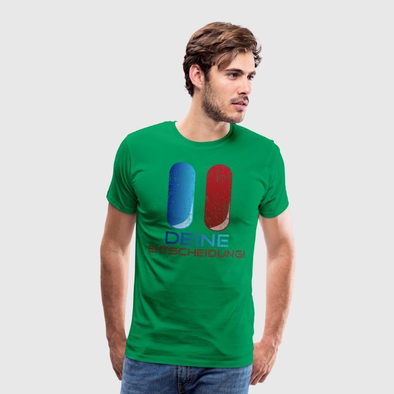 Blaue und rote Pille: Deine Entscheidung! - Männer Premium T-Shirt