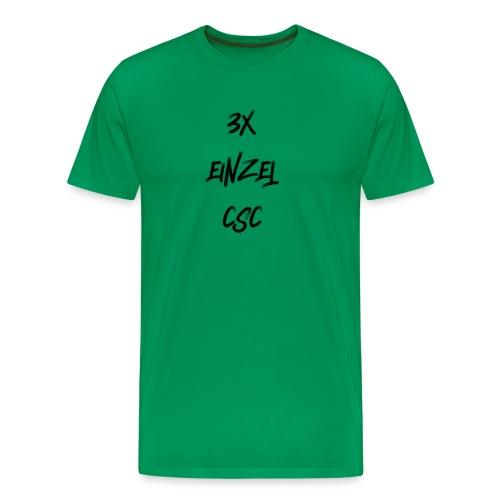 3 mal einzel CSC - Männer Premium T-Shirt