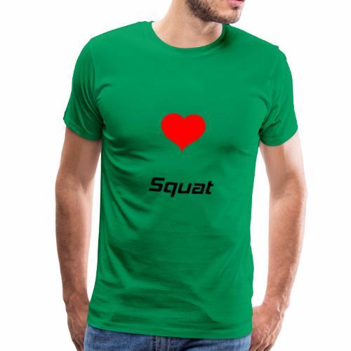 Squat Bodybuilding Powerlifting Lifting Gym - Männer Premium T-Shirt