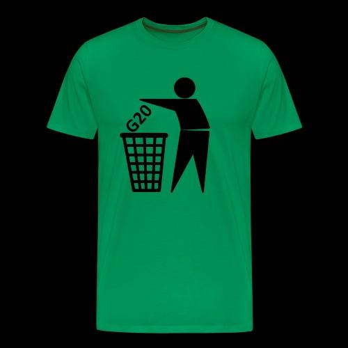 G20 in die Tonne - Männer Premium T-Shirt