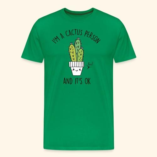 Cactus Person - Camiseta premium hombre