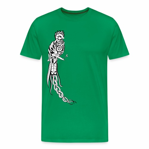 Keltischer Quetzal / Paradiesvogel (Transparent) - Männer Premium T-Shirt