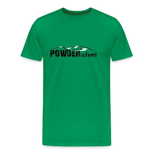Powderschool Logo schwarz - Männer Premium T-Shirt