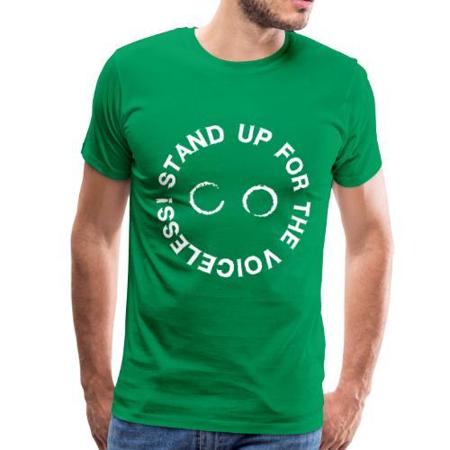 STAND UP FOR THE VOICELESS LOGO - Männer Premium T-Shirt
