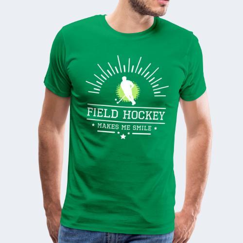 Hockey makes me smile - Männer Premium T-Shirt