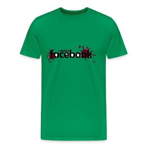 Musta Facebook -t-paita - Miesten premium t-paita