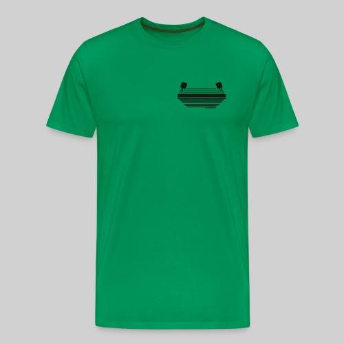 Stadionkultur black small Logo - Männer Premium T-Shirt