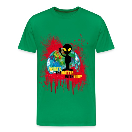 Wondering alien - Men's Premium T-Shirt
