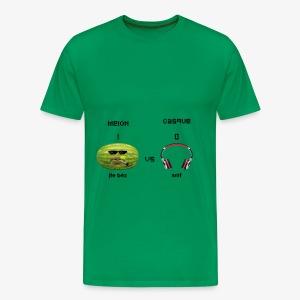 Melon vs Casque - T-shirt Premium Homme
