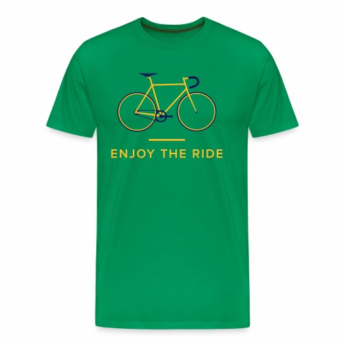 Enjoy The Ride Retro Cycling T-Shirt - Men's Premium T-Shirt
