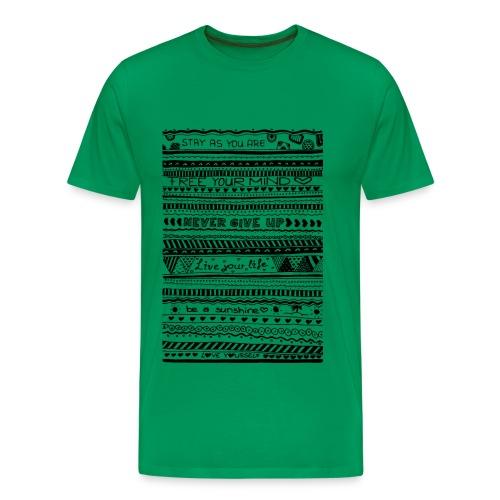 Doodle Art StayAsYouAre - Männer Premium T-Shirt