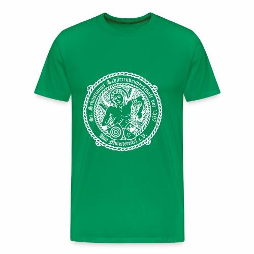 Schuetzenlogo 2018 weiss - Männer Premium T-Shirt