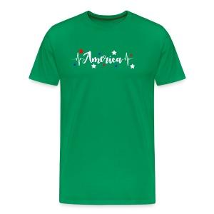 América 4th de Julio día de la Independencia E. U. - Camiseta premium hombre