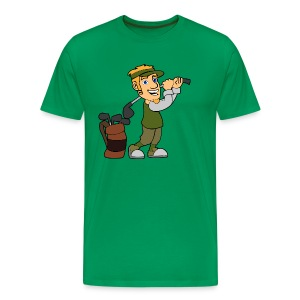 Golf golfer - Men's Premium T-Shirt