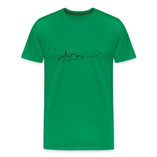 croquis_niemeyer - Camiseta premium hombre
