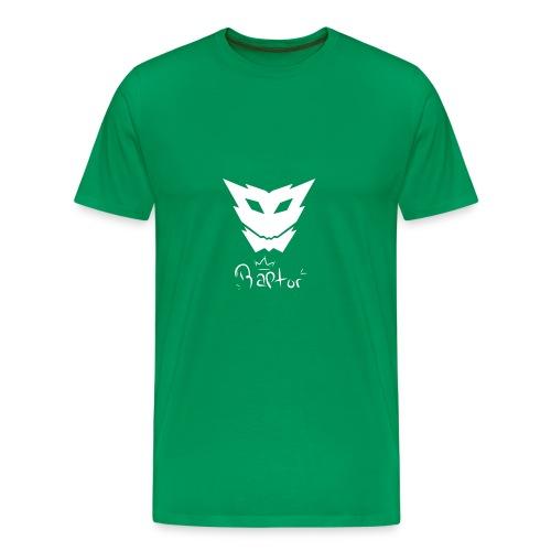 Raptor mit logo - Männer Premium T-Shirt