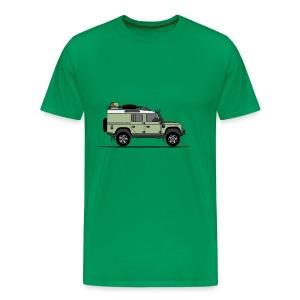 Defender 110 Offroad - Premium-T-shirt herr