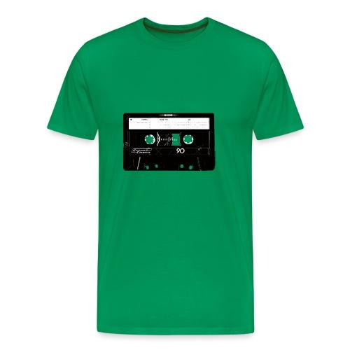 Kassette Recorder Old School Logo Design - Männer Premium T-Shirt