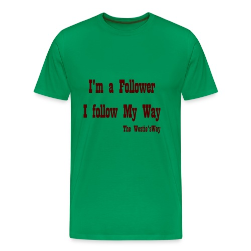 I follow My Way Brown - Koszulka męska Premium