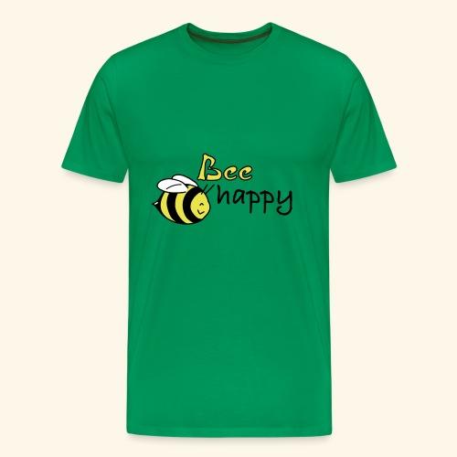 bee happy - Männer Premium T-Shirt