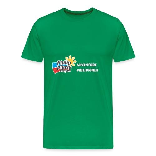 Philippinen-Blog Logo english schwarz/weiss - Männer Premium T-Shirt