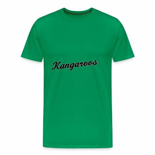 kangaroos font schwarz - Männer Premium T-Shirt