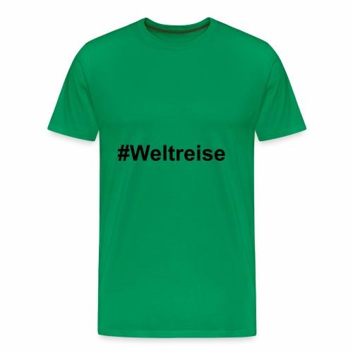 #Weltreise in schwarz - Männer Premium T-Shirt