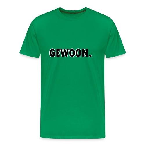 Gewoon. zwart - Mannen Premium T-shirt