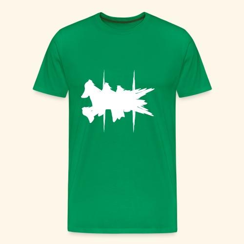 Flying Dog Art White - Männer Premium T-Shirt