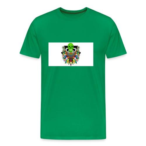 Colorful skull - Miesten premium t-paita