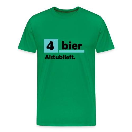 Vier-Bier-Aub - Mannen Premium T-shirt