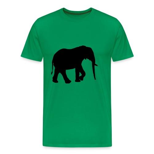Schattenriss Afrikanischer Elefant - Männer Premium T-Shirt