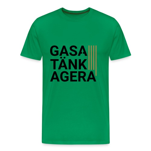 T-shirt för inspiration. Gasa-Tänk-Agera - Premium-T-shirt herr