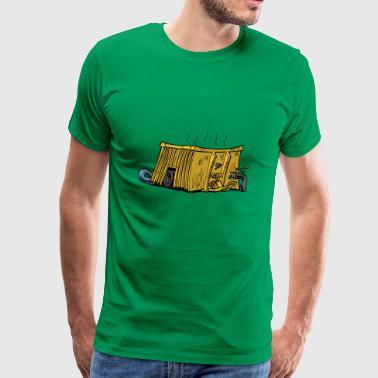 Mestcontainer gul - Premium T-skjorte for menn
