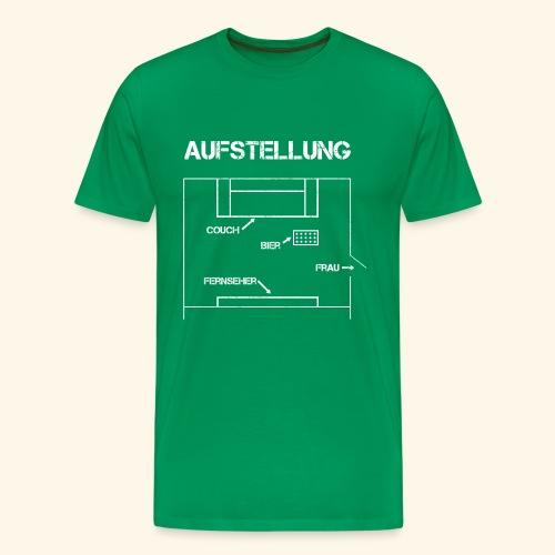 Fussball Aufstellung Weltmeisterschaft Geschenk - Männer Premium T-Shirt
