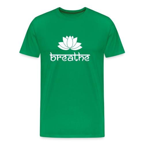 Yoga Meditation Mindfulness T-Shirt Breathe - Männer Premium T-Shirt