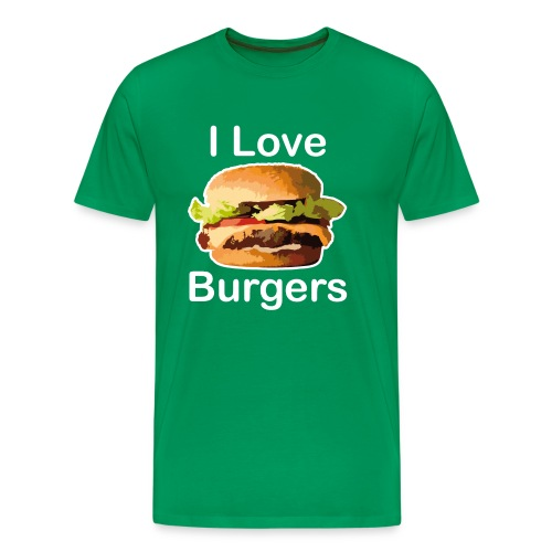 I Love Burgers - T-shirt Premium Homme